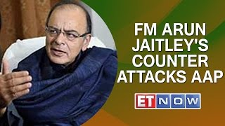FM Arun Jaitley's Counter Attacks AAP ; Alleges AAP wants to deflect attention