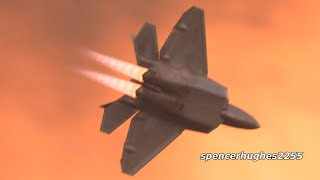 F-22 Raptor TWILIGHT BURNER! EAA AirVenture Oshkosh 2019