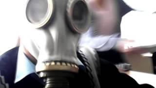 видео время работы в шланговом противогазе