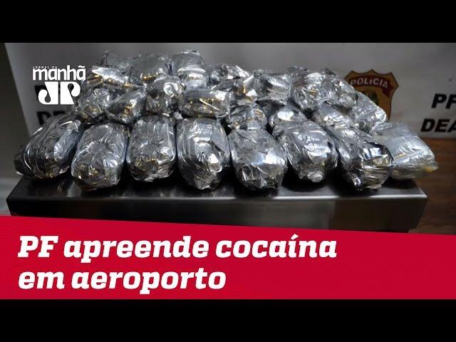 PF prende três mulheres que embarcariam de SP com cocaína para o exterior