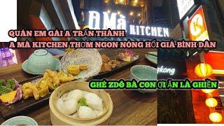 Quán Em Gái Anh Trấn Thành Đông kinh Khủng   A Mà kitchen   Đồ Ăn Tươi Ngon Nóng Hổi