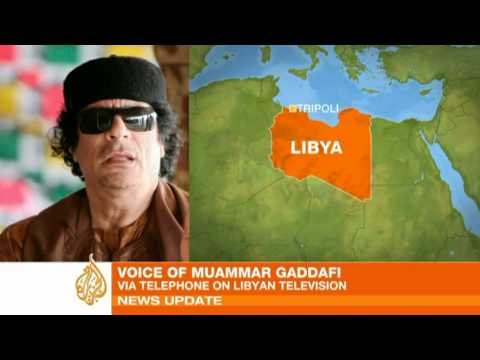 Gaddafi accuses al-Qaeda of causing uprising