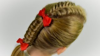 HOW TO: Fishtail Braid and Dutch Inifinity Braid (Quick and Easy hairstyle for girls #45)