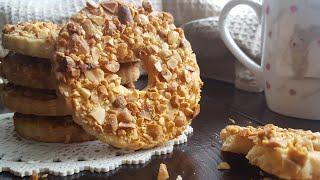 ПЕСОЧНЫЕ кольца с ОРЕШКАМИ как в детстве🌻ПРОСТОЙ рецепт печенья🌻 Easy cookie recipe