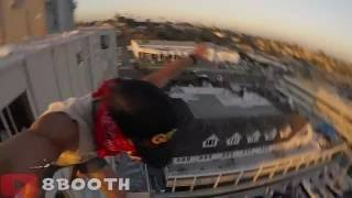 Guy Jumps Off Eight-Story Building, Almost Misses The Water