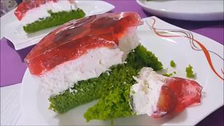 Özel Günler İçin Güzel mi Güzel Çilek Jöleli Ispanaklı Yaş Pasta l Kremalı