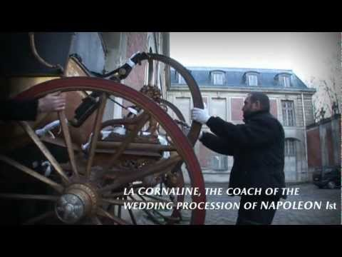 Le départ des carrosses du château de Versailles