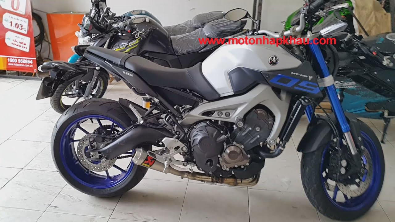 yamaha mt 09 p akrapovic slip on youtube. Black Bedroom Furniture Sets. Home Design Ideas