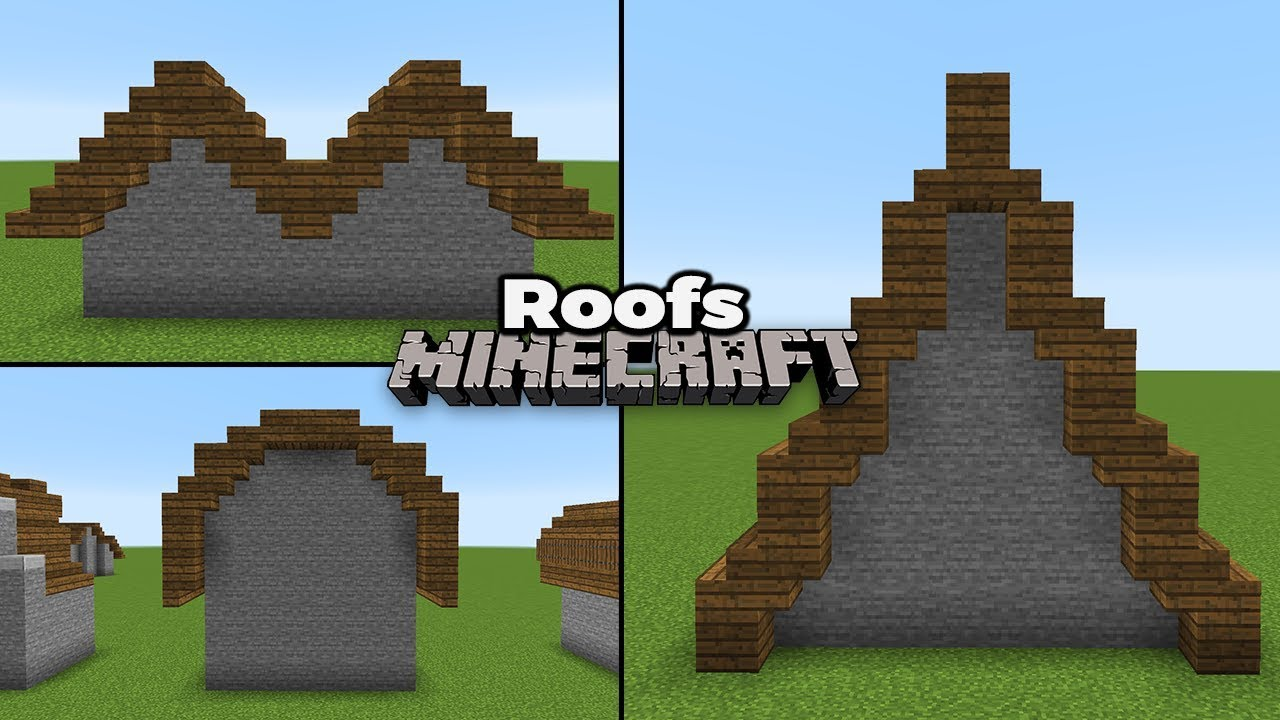 Minecraft 1 14 Roof Guide How To Build 30 Roofs Youtube