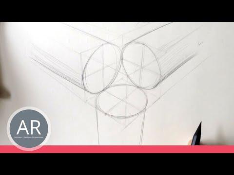 zeichnen lernen perfekter kreis in perspektive 12 punkt technik youtube. Black Bedroom Furniture Sets. Home Design Ideas