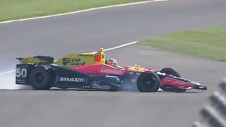 IndyCar Series 2017. FP1 Indy 500. Jack Harvey Crash