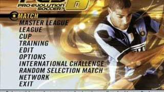 Pro Evolution Soccer 6 - Main Menu (Existence) Music
