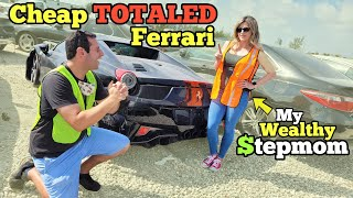 I Found a Ferrari 458 at the SCRAP Auction! I Brought my Famous Stepmom to Help me BUY!