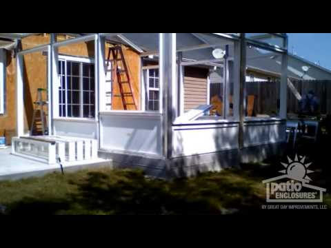 Building a Sunroom: Before & After Time Lapse