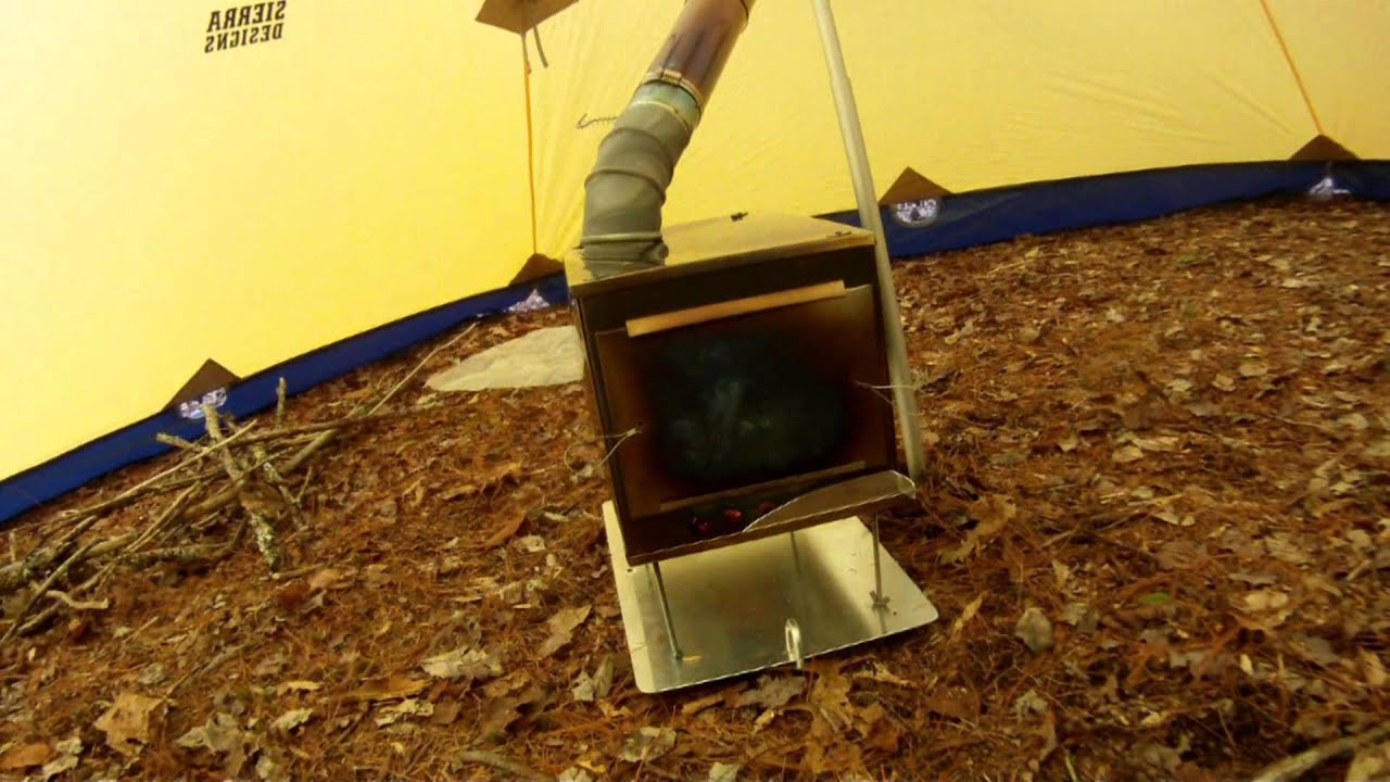 & Hot Tent made from a Sierra Designs Mtn. Guide Tarp - YouTube