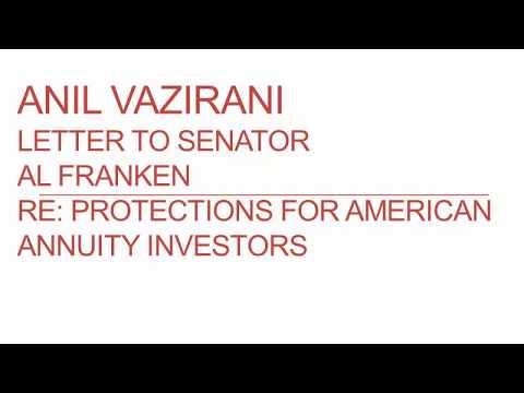 anil vazirani letter to senator al franken re protections for