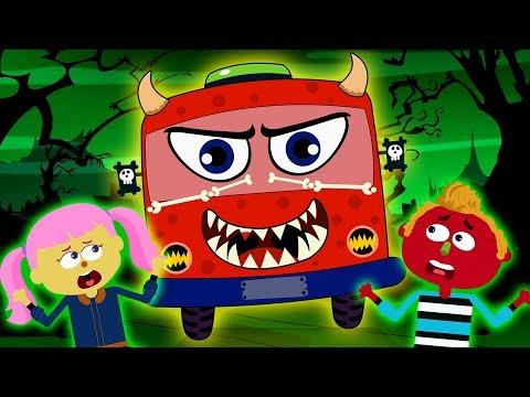 Wheels On the Bus HALLOWEEN | Scary Nursery Rhymes | Kids Songs | Stories of HAUNTED BUS Teehee Town