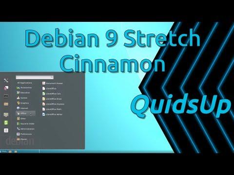 Debian 9 Stretch Review with Cinnamon Desktop
