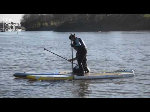 Too cold for paddle boarding? Never! - YouTube