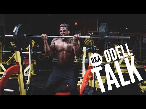 Why I And Odell Don't Talk | Epic 225lb Barbell Curl Attempt| Q&A