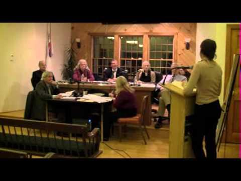 HOPKINTON TOWN COUNCIL MEETING -- November 4, 2013