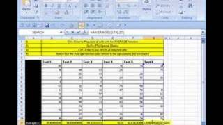 Excel Magic Trick # 3: AVERAGE & Go To Blanks