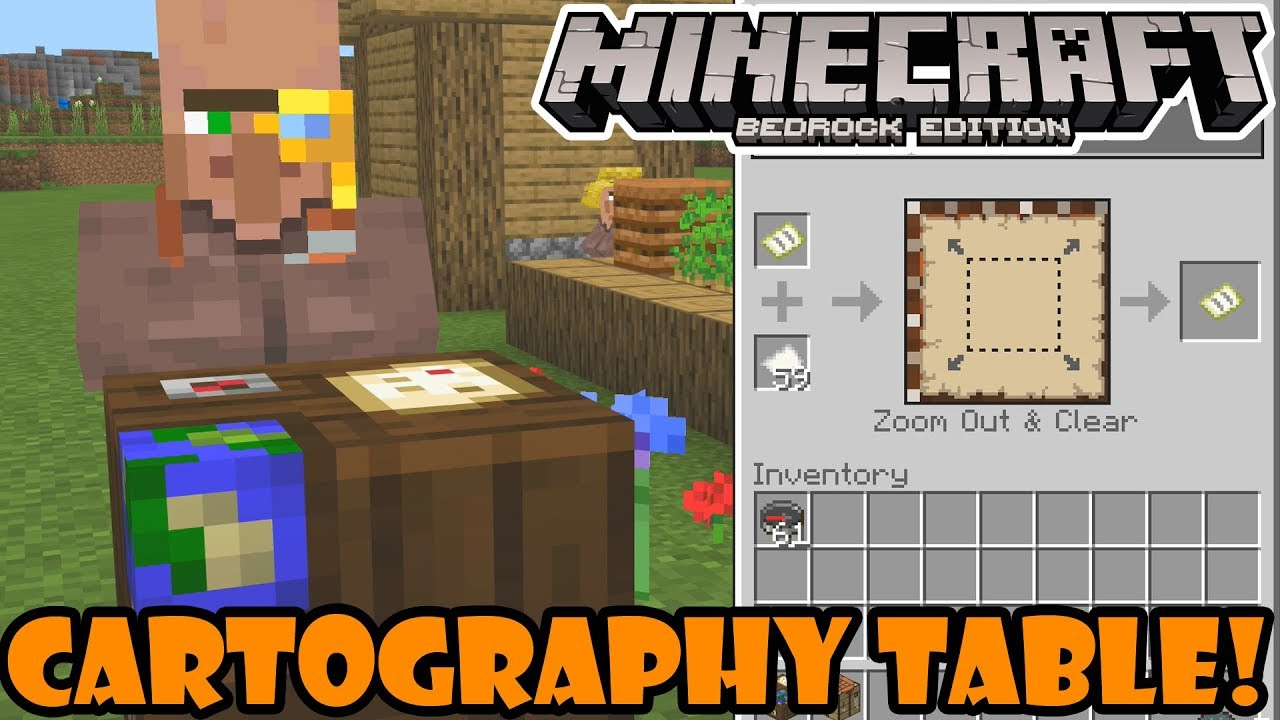Minecraft 1111.11111111.1111.1111 Beta - How to Use The Cartography Table