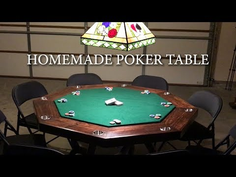 MY HOMEMADE POKER TABLE