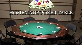 MY HOMEMADE POKER TABLE