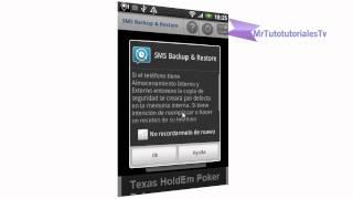 SMS Backup & Restore como hacer una copia de segurirdad de tus SMS desde tu Smartphone Android.