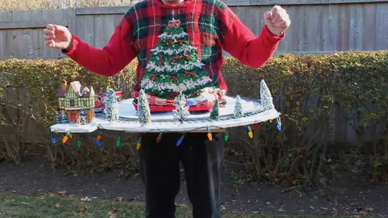The Worlds Ugliest Christmas Sweater Includes A Working Toy Train