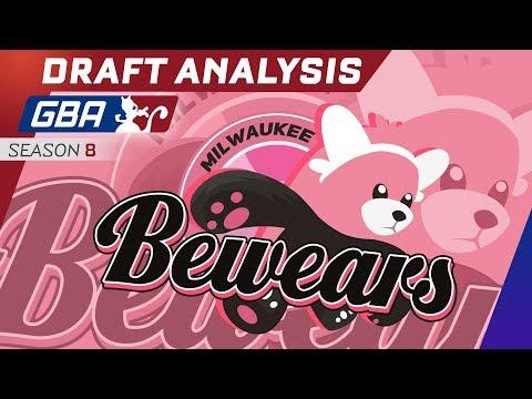 GBA Season 8 Draft Analysis! Milwaukee Bewears ft. myself
