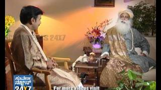 Seg 3 - Interview with Jaggi Vasudev - Enlightenment - Suvarna News