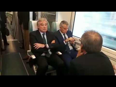 De la Serna y Feijóo presentan la conexión ferroviaria Ourense-Lugo