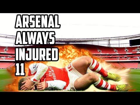 Arsenal's  Always Injured XI