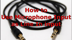 How to use a microphone jack as a line in jack