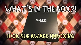 100k Subscriber Award Unboxing Party!