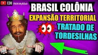 BRASIL COLÔNIA Expansão Territorial Tratado de Tordesilhas 1494 Período Colonial Sistema Colonial #1