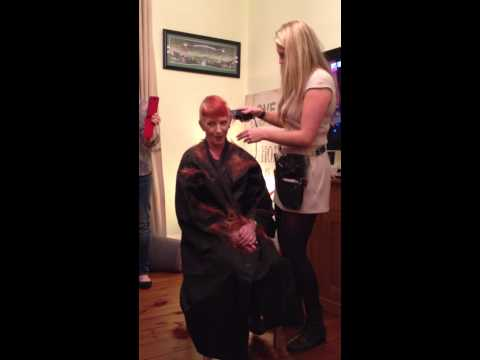 Lorraine Smyth's Head Shave for Cancer Research 110314