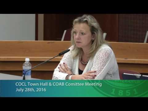 Community Oversight Advisory Board Meeting July 28, 2016