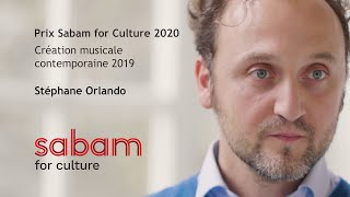 Stéphane Orlando - Prix Sabam for Culture 2020