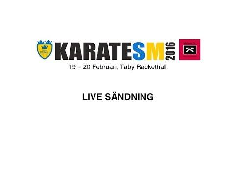 Karate SM 2016 - Dag 2 - Live sändning - Matta #2