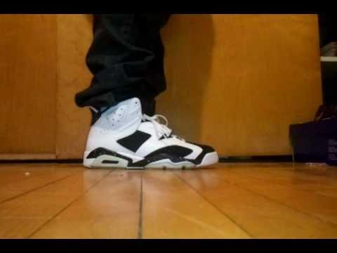 b81b30613f27 Jordan Retro 6 Oreo On Feet - YouTube
