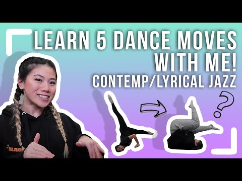Learn 5 Contemporary/Lyrical Jazz Moves with me!