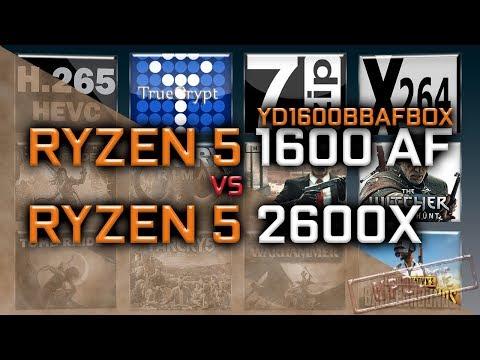 Ryzen 5 1600 Af Vs Ryzen 5 2600x Benchmarks Yd1600bbafbox Youtube