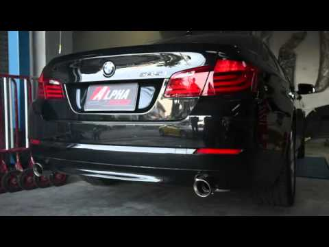 bmw f10 535i w armytrix decat performance valvetronic exhaust by alpha factory