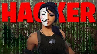 I killed a HACKER with fly hack and aimbot in Fortnite.. *no clickbait*