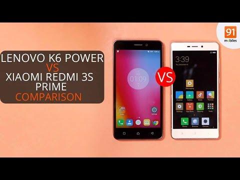 Lenovo K6 Power vs Xiaomi Redmi 3s Prime: Comparison overview