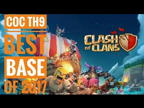 Clash Of Clans Town Hall 9 Defense Base. BEST Trophy Base Layout Defense By HD STATUS KING