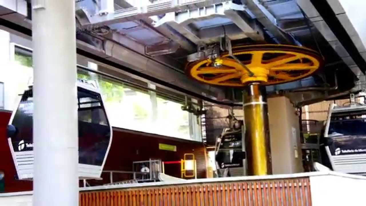 Cable Car System of Teleferic in Barcelona - YouTube